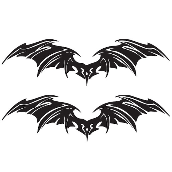 Car stickers for walls - Set Of Bat Wings Evil Wings Decal Sticker Halloween