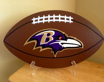 Baltimore Ravens 3D Football Sign