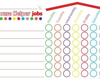House Helper Chore Chart Mat