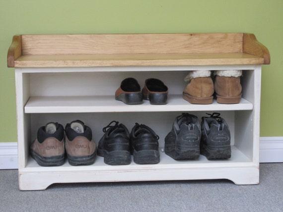 36 long banc dentr e blanc antique couloir chaussures for Banc chaussures entree