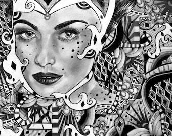 Abstract Girl Print 11''x 14''