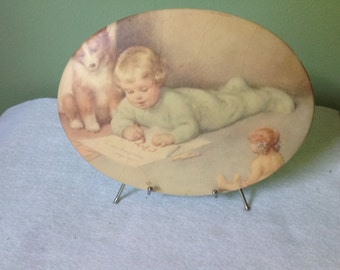 Ceramic Plaque Print of Bessie Pease Gutmann
