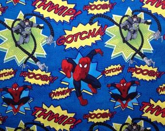 Travel Pillow Case /  Child Size Pillow Case  / Spider Man / Super Hero