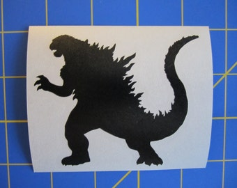 Godzilla Decal/Sticker 11X13