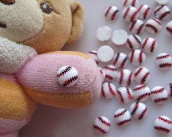 RC-170-3 30pcs Cute Baseball Resin Decoration Nail Art Decorations