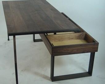 "Coffee Table: Walnut and Wenge ""Transformer"" Coffee Table"