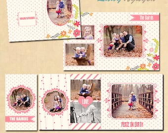 INSTANT DOWNLOAD 4x8 Accordion book template 4x8  - A017