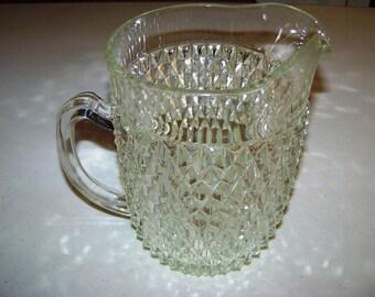 Diamond Point Large Glass Pitcher