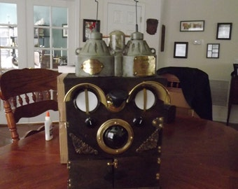 Steampunk Communications Backpack