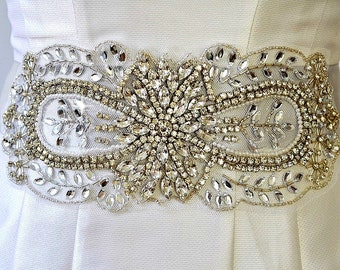 BRIDAL RHINESTONE SASH , wedding rhinestone sash, bridal crystal sash, wedding crystal sash, bridal rhinestone belt,wedding rhinestone belt