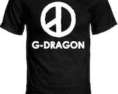 G-Dragon Coup D'etat Peace Sign/GD Logo Kpop T-Shirt