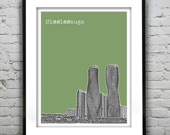 Mississauga Ontario Skyline Poster Art Print Canada