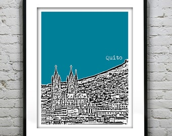 Quito Ecuador Poster Print Skyline South America