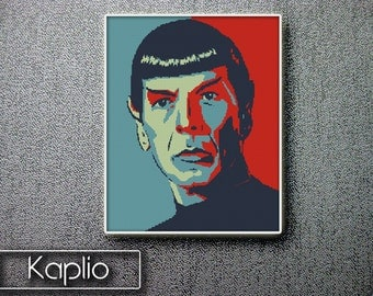 Spock (Star Trek) Cross Stitch Pattern  [PDF FILE]