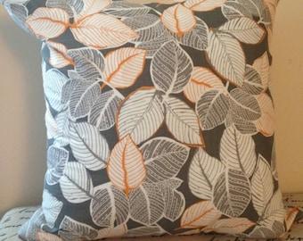 Decorative Pillow, Throw Pillow, Pillow Cover, Grey and Orange Pillow