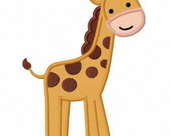 Giraffe Applique Machine Embroidery Design NO:0075