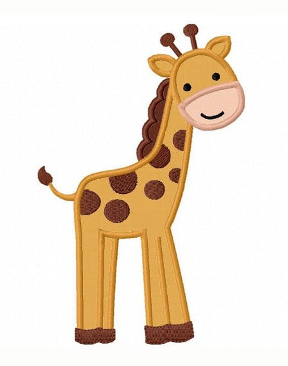 Giraffe Applique Machine Embroidery Design NO0075
