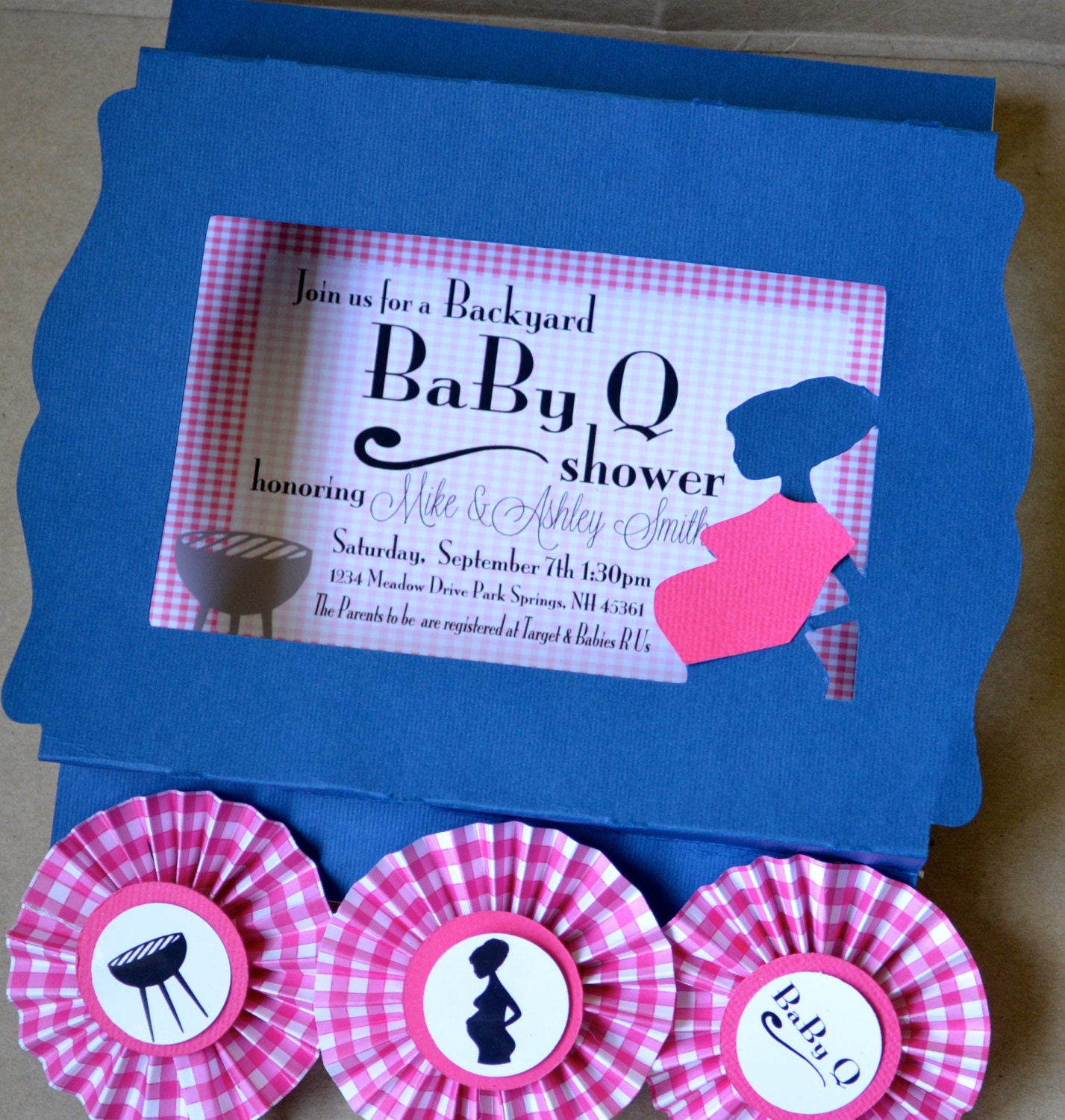shadow box baby q baby shower invitation by simplycharmingparty