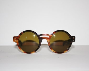 Vintage Sunglasses Les Copains mod. 10 col. 125 Round Made in Italy New