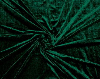 Green velvet fabric- Green velvet by the yard- 60 inch fabric width- 1 yard- We take wholesale fabric orders