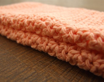 """Hand Crocheted Wash Cloths - """"All Apricot"""""""