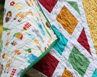 Zoo Animal and Dots Quilt