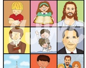 GENERAL CONFERENCE Match Card Game - Downloadable PDF Only