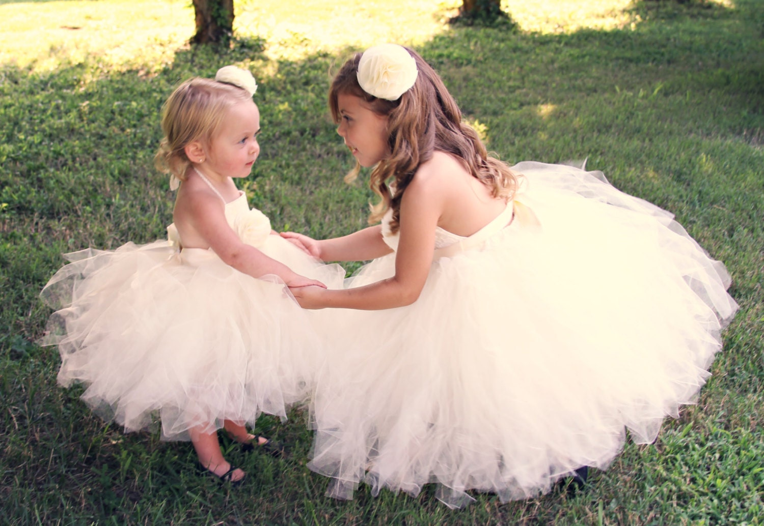 SALE Tulle & Lace Tutu Flower Girl Dress An Ivory Childs