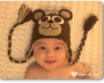 Cute Crochet Hat Bear