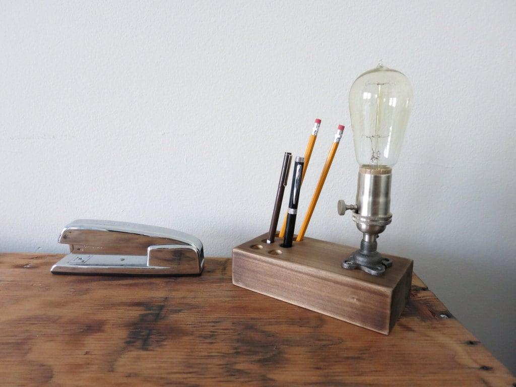 The Graduate Edison Desk Lamp W Pen And Pencil Holder