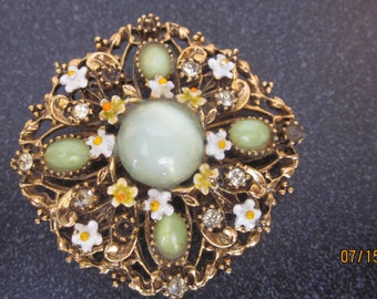 Vintage Brooch ART signed- SALETODAY
