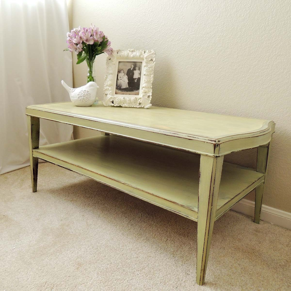 lucketts green two tiered coffee table. Black Bedroom Furniture Sets. Home Design Ideas