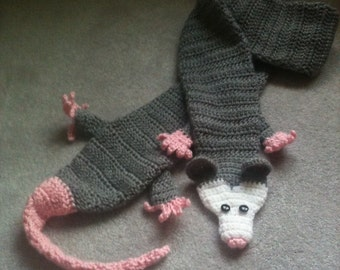 child sized opossum scarf
