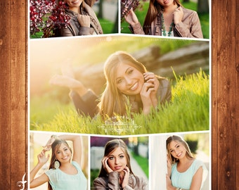 BUY 1 GET 1 FREE  Seniors Blog Board & 16x20 Collage Template Photoshop Template Instant Download: blog board code -248