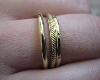 Stack ring, Stackable gold rings, Stacking rings, Gold rings, Brass rings, 3 texture rings, Knuckle ring, Dainty ring
