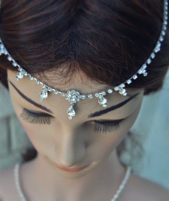50 off wedding tikka headpiece indian inspired crystal