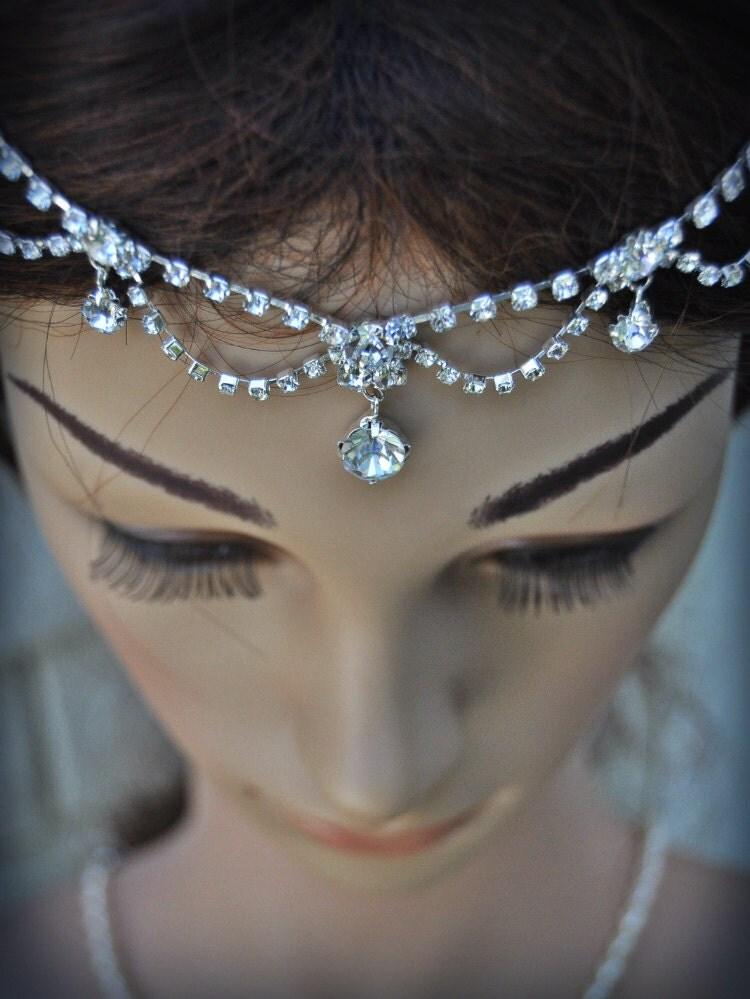 Wedding Tikka Headpiece Indian Inspired Crystal