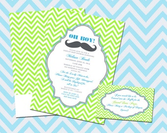 It's A Boy Baby Shower Invitation  (25 QTY with Envelopes)