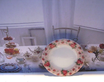 Miniature plate  1:12 scale New Country Roses