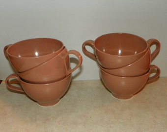 REDUCED 50%-Light Brown Melmac Coffee Cups