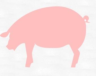 Pig vinyl decal | Etsy