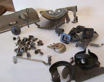 TYPEWRITER PARTS, VINTAGE  Royal Typewriter Parts, Manual Typewriter Parts, Steampunk
