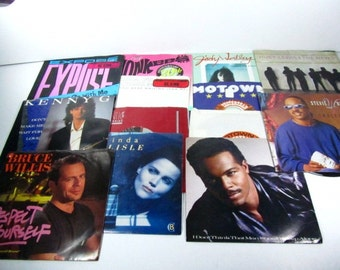 Music records,1980s, 45 record, record collection,