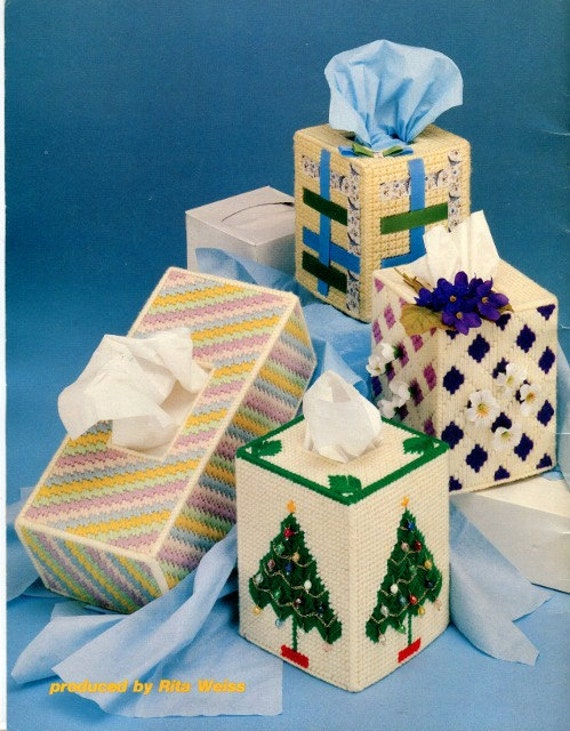 Plastic Canvas Book Cover Patterns ~ Plastic canvas tissue box covers pattern book
