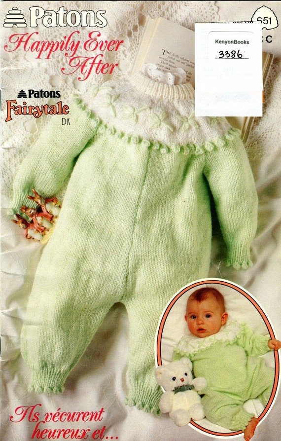 HAPPILY EVER AFTER Knitting Pattern Book for Babies Patons