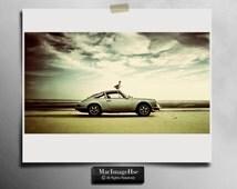 Classic Porsche Car , Vintage Car Photography , 911 Porsche Car , Classic 1970 Porsche