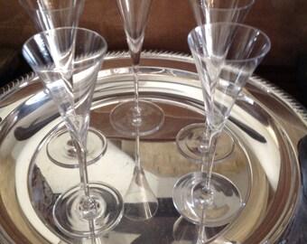 Cordials Paper Thin Crystal Cordials or Shot Glasses (5)