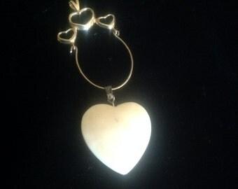 Hearts 14k Charm Holder and heart charm