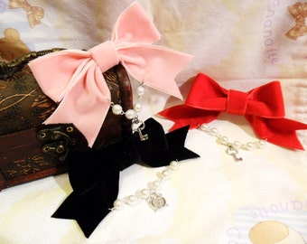 Lolita velvet hair bows