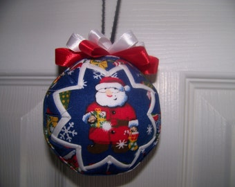 Santa Clause Christmas Quilted Ornament